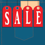 Sale of textile Royalty Free Stock Images