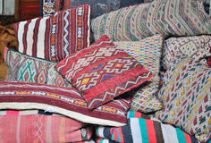 Sale of textiles for home Stock Image