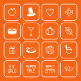 Sale Thanksgiving Icons Royalty Free Stock Images
