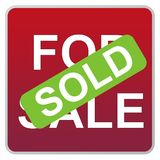 For sale then sold. Sign for sale then sold Stock Image
