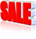Sale three dimension Stock Images