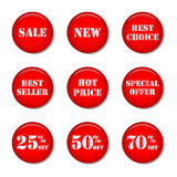 Sale ticons Arkivfoto