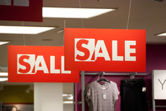 Sale time. Details of the mall interior Royalty Free Stock Images