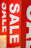 Sale time. Details of the mall interior Stock Photo