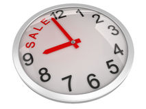 Sale time on alarm clock Royalty Free Stock Images