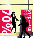 Sale time in the city Stock Photography