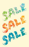 Sale title Royalty Free Stock Photos