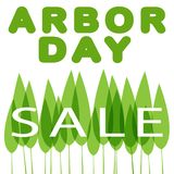 Sale Arbor Day. Sale to Arbor Day vector illustration royalty free illustration