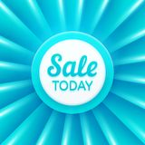 Sale today design template. Vector banner Stock Photo