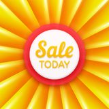 Sale today design template. Vector banner Royalty Free Stock Image