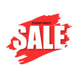 Sale today only flat icon Stock Photography
