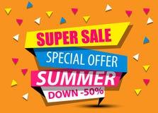 Sale toppen försäljning, stor försäljning, rabatt, glänsande baner, försäljningsbakgrund, specialt erbjudande Arkivbild