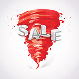 Sale with tornado Royalty Free Stock Photography