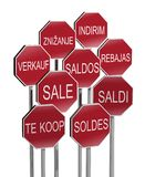 Sale traffic signs Royalty Free Stock Photo