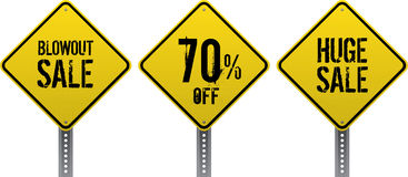 Sale traffic signs Stock Photography