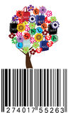 Sale tree. Illustration of a sale tree with bar code stock illustration