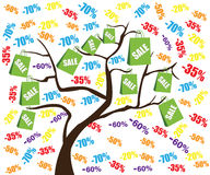 Sale tree Royalty Free Stock Images