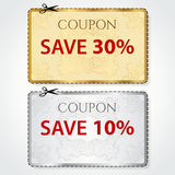 Sale tryckkupong, etikett. Klipp av mallen, modell Royaltyfria Bilder