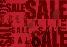 Sale typo med röd bakgrund Royaltyfria Bilder