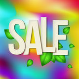 Sale typography background. Vector Royalty Free Stock Photo