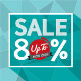 Sale Uo To 80 Percent Banner. Royalty Free Stock Photo