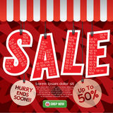 Sale Up To 50 Percent Banner. Stock Image
