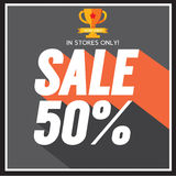 Sale up to 50 percent. Sale up to 50 percent Vector Illustration Royalty Free Stock Photos