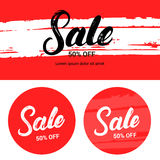 Sale up to 50 percents off. Banner set. Royalty Free Stock Images