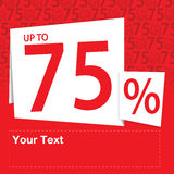 Sale upp till 75 procent Royaltyfria Foton