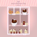 Sale on  Valentine day Royalty Free Stock Image
