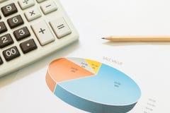 Sale values graphs Stock Photo