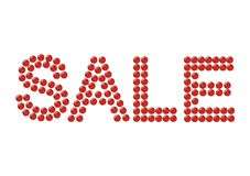 Sale(vector). SALEwith the red ball on white background Royalty Free Stock Photos