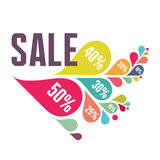 Sale Vector Banner - Colorful Petals Royalty Free Stock Photography