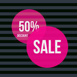 Sale vector banner - discount 50 off. Royalty Free Stock Photo