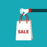 Sale vector concept in flat cartoon style Royalty Free Stock Photography