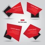 Sale vector flat banner label set.  cards in material design   Stock Image