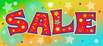 Sale. Vector illustration of a colorful sale banner. Document contains some transparencies. Eps 10 stock illustration