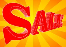 Sale. Vector illustration of hand-drawn letters SALE Royalty Free Stock Image
