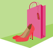 Sale. Vector illustration about making shopping Stock Photos