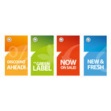 Sale vector labels in english Royalty Free Stock Photos