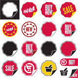 Sale vector labels set. Stock Image