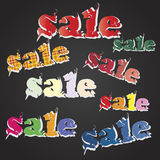 Sale vector text Royalty Free Stock Image