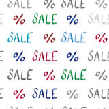 Sale vector text pattern for your design Royalty Free Stock Images