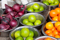 Sale of vegetables and fruit Stock Images