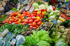 Sale of vegetables Royalty Free Stock Photo