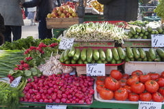 Sale of vegetables on a market Stock Images