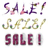 Sale - vektorinskrift Royaltyfri Bild