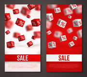Sale Vertical Banners or Flyers Set Stock Images
