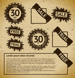 Sale vintage stamp labels Stock Photos