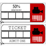 Sale voucher and entrance ticket for cinema movie Stock Photo